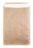 Stor brunt återanvände kuvertdokumentet med det pappers- kortet på vit b Royaltyfri Foto