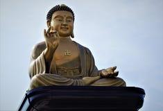 Stor Buddha av Fo Guang Shan Buddha Memorial i Kaohsiung, Taiwan royaltyfri foto