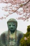 Stor Buddha eller stor Buddha av Kamakura Daibutsu Arkivbild