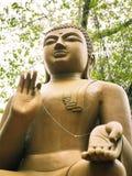 Stor Buddha i en tempel royaltyfria bilder