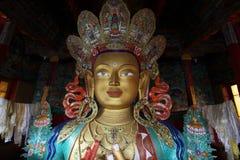 Stor Buddha i Ladakh Arkivbilder