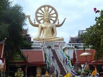 Stor Buddha Koh Samui, Thailand arkivfoton