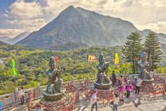 Stor Buddha Lantau Arkivbilder