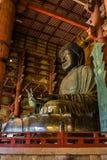 Stor Buddha på den Todai-ji templet Arkivbild
