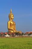 Stor Buddha på Wat Muang, Thailand Royaltyfri Fotografi