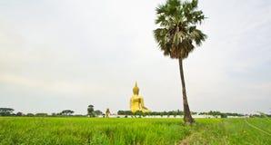 Stor Buddha på Wat Mung, Thailand Fotografering för Bildbyråer