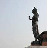 stor buddha staty Arkivfoton