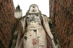 stor buddha statysukothai thailand royaltyfri foto