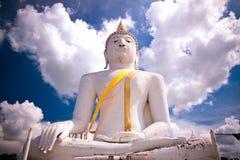 stor buddha white royaltyfri bild