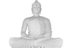 stor buddha white Fotografering för Bildbyråer