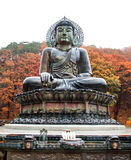 Stor Buddhamonument av Sinheungsa Royaltyfri Foto
