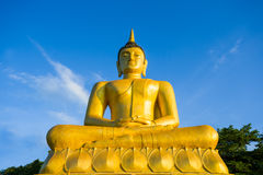 Stor Buddhastaty i Laos Royaltyfri Bild