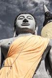 Stor Buddhastaty med pagoden arkivfoto