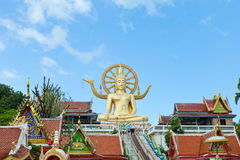 Stor Buddhatempel i Koh Samui, söder av Thailand Arkivbilder