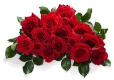 Stor bukett av röda rosor Arkivbild