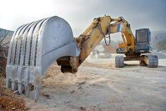 stor bulldozer Arkivbilder
