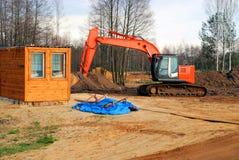 stor bulldozer Royaltyfri Fotografi