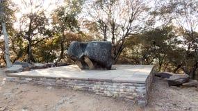 Stor bunke på den Sanchi världsarvUNESCO Arkivfoton
