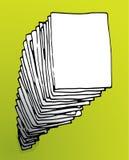 Stor bunt av papper Fotografering för Bildbyråer