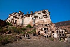 Stor byggnad av den 17th århundradeslotten i Indien Royaltyfria Bilder