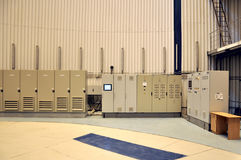 Stor byggnad - hydroelektriskt kontrollsystem royaltyfri bild