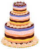 stor cake royaltyfri illustrationer