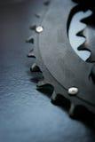 Stor chainring som används av cykeln Arkivbild