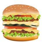 stor cheeseburger vektor illustrationer