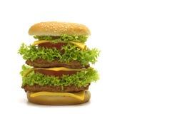 stor cheeseburger Fotografering för Bildbyråer