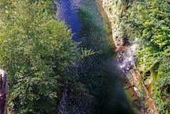 Stor chilensk flod royaltyfri foto