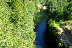 Stor chilensk flod arkivbilder