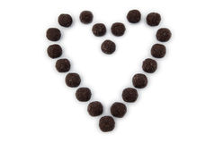 stor chokladhjärta Arkivbilder