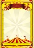 stor cirkusreklambladöverkant Arkivbilder