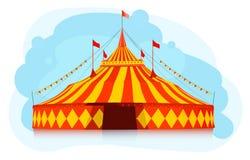 stor cirkustentöverkant Arkivbilder