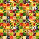 stor collage bär fruktt grönsaken Royaltyfria Bilder