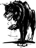Stor dålig varg stock illustrationer