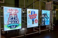 Stor dålig varg, de största bokförsäljningarna i Thailand, Augusti 10, 2017: Royaltyfria Bilder