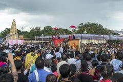 Stor Dasara procession på Mysore Arkivfoton
