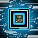 Stor databakgrund för mikrochips royaltyfri illustrationer