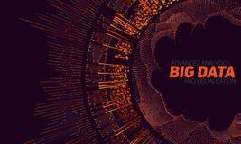 Stor datavisualization Futuristiskt infographic Estetisk design för information Visuell datakomplexitet Royaltyfri Fotografi