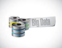 Stor design för dataserverillustration Arkivbild