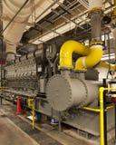 Stor diesel- generator Arkivbild