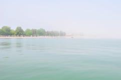 Stor dimma på Great Lakes som tas i $rochester arkivfoton