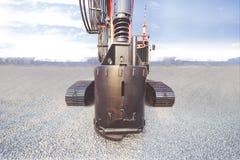 Stor drillborr av ett tungt maskineri arkivfoto