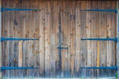 Stor dubbel dörr Arkivbilder