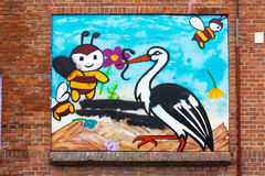 Stor e abelhas Imagem de Stock