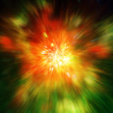 Stor explosion i utrymme- och relikutstrålning Beståndsdelar av denna avbildar möblerat vid NASA http://www nasa gov/ royaltyfri illustrationer