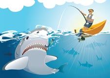 stor fångande haj Royaltyfri Fotografi