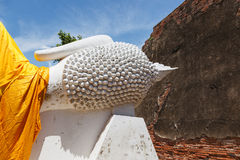 Stor för yai chai för huvudbuddha wat kon ayutthaya mong Royaltyfri Foto