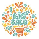 Stor försäljning royaltyfri illustrationer